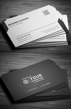 Black Business Card #businesscards #businesscarddesign #psdtemplates #corporatedesign