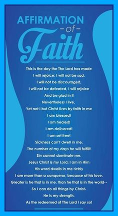 Daily Christian Quotes And Affirmations. QuotesGram by Christian Affirmations, Positive Affirmations, Positive Quotes, Faith Prayer, Faith In God, Christian Life, Christian Quotes, Rejoice And Be Glad, Me Time