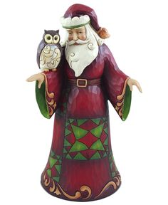Jim Shore Santa with Owl Collectible Figurine Pinned by www.myowlbarn.com