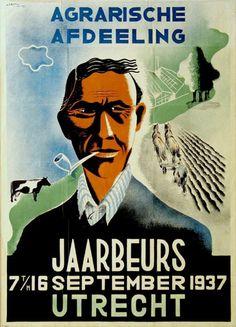 Agrarische afdeeling jaarbeurs 7 t/m 16 september 1937 Utrecht - by Wim Bosma - at Stedelijk Museum Amsterdam