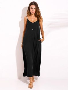 b0bd872c6c4 Cheap best ZANZEA Sexy Women Bohemian Pure Color Backless V Neck Maxi  Sundress on Newchic