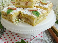 Ciasto z rabarbarem i budyniem biszkoptowym - medium