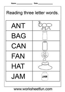 Reading 3 letter words.