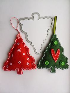 stamping and stitching: Oh Christmas Trees