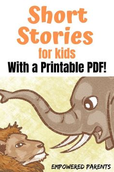 These short, funny stories for kids are all about animals. Read them from this page or print a PDF copy to keep for later. Free Stories For Kids, English Stories For Kids, Moral Stories For Kids, English Story, Reading Stories, Kids Story Books, Cute Bedtime Stories, Kids English, Pre Reading Activities