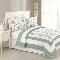 Ambria Chocolate Quilt, 100% Cotton   Bedrooms, Master bedroom and ... : quilts bed bath and beyond - Adamdwight.com
