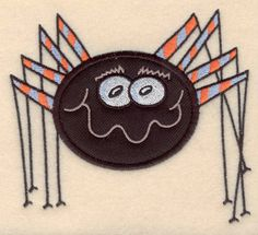 Cute Spider large applique   Halloween Machine Embroidery Design