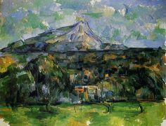 La montagne saint-victoire vue du bellevue, Cézanne Mouvement post impressioniste, 1895