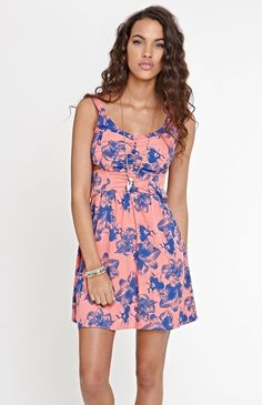 Pretty color and pattern! Element dress from Pac Sun