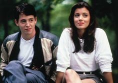 Matthew Broderick and Mia Sara for Ferris Bueller´s Day Off