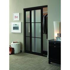 Contractors Wardrobe 84 in. x 81 in. Eclipse 3-Lite Mystique Glass Bronze Finish Aluminum Interior Sliding Door-EC3-8481BZ2R - The Home Depot
