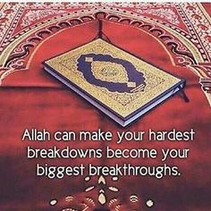 Don't despair. Allah will bring you through it! #Faith #Hope #Islam