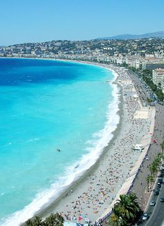 French Riviera - Nice, Menton, St. Tropez. Beautiful, glamorous, but the beaches are mostly rocky, not sandy.