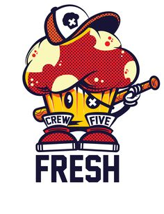 Crew Five Fresh Tee by Jason Arroyo , via Behance