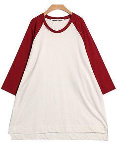 Korean Fashion women clothing BIG BOXY TEE DRESS KB160056 XL USA SELLER   eBay