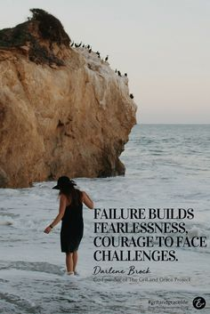 Failure builds your character, adding both grit & grace as needed! #gritandgracelife Wise words from Darlene Brock.  || quotes for women, motivation for women ||