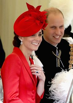 Catherine, Duchess of Cambridge and Prince William, Duke of Cambridge depart the Order of the Garter Service at Windsor Castle on June 13, 2016 in Windsor, England.