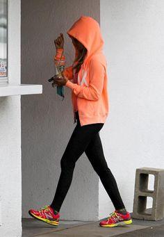 Perfect workout wear. Cute VS hoodie <3