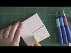 Stamp carving How-to video  Staedtler Mastercarve carving block preferred  (A penguin stamp)