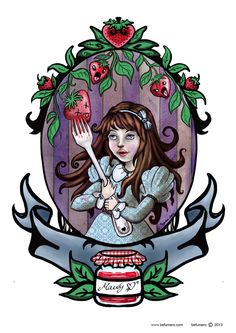 Mandy Strawberry jam on Behance. Begoña Fumero