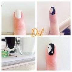 #nails#white&black