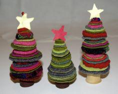 wool felt tree christmas decorations