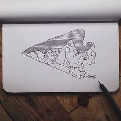 steelbison:  First sketch in my new @Shop Denik book. #art #arrowhead #denik: