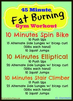 45 Minute Fat Burning Workout