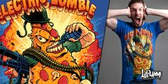 """""""Electric Zombie - Take Out"""" t-shirt design by LaFlamme"""