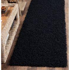 Monterey Shag Black 2 ft. 3 in. x 6 ft. Runner