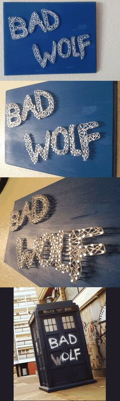 Bad Wolf String Art. By Randi Nentrup - Doctor Who