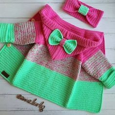 Best 10 Ç @ anna_burko # # autumn # bag . Crochet Baby Jacket, Crochet Baby Sweaters, Knitted Baby Cardigan, Knitted Baby Clothes, Baby Blanket Crochet, Crochet Clothes, Baby Knitting, Knitting Yarn, Crochet Toddler