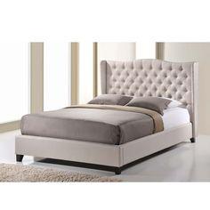Zant Light Beige Upholstered Modern Bed