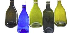 Glass art is a beautiful way to decorate your home while recycling. You can use old wine, beer, vinegar or fizzy drink bottles to create your own flattened glass bottles to decorate your home. Wine Bottle Corks, Glass Bottle Crafts, Bottles And Jars, Glass Bottles, Patron Bottles, Cut Glass, Glass Art, Slumped Glass, Fused Glass