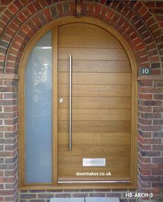 Arched front door with glass 58 Trendy Ideas Arched Front Door, Front Door Canopy, Double Front Doors, Arched Doors, Glass Front Door, Entry Doors, Glass Door, Front Porch, Garage Door Styles