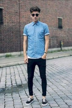 e241db8fb386 nice 15 Ways to Dress Up with Vans and Jeans for Men https