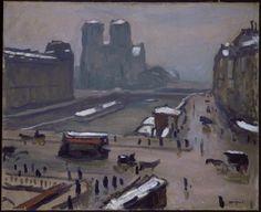 One of my favourite Albert Marquet, Paris under Snow