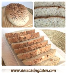 Deseos Sin Gluten: PAN MULTISEMILLAS SIN GLUTEN EN PANERA LÉKUÉ ( Receta en vídeo) Polenta Recipes, Seed Bread, Pan Bread, Deli, Gluten Free, Baking, Ethnic Recipes, Food, Ratatouille