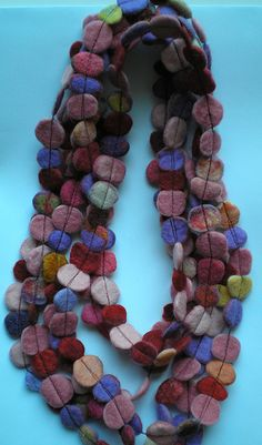 felted scrap necklace