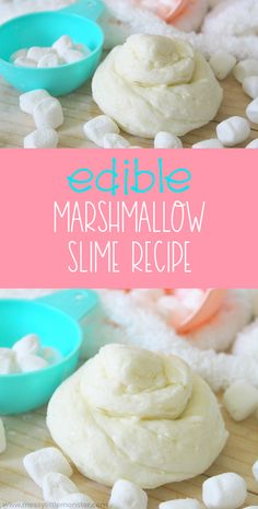 An easy edible slime recipe for kids. An easy edible slime recipe for kids. Edible Slime, How To Make Marshmallows, Recipes With Marshmallows, Homemade Slime, Diy Slime, Glue Slime, Homemade Art, Kids Meals, Manualidades