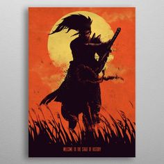 Samurai by Eden Design Anime Artwork, Cool Artwork, Samurai Drawing, Wall Art Prints, Poster Prints, Eden Design, Buy Art Online, Buy Posters, Selling Art