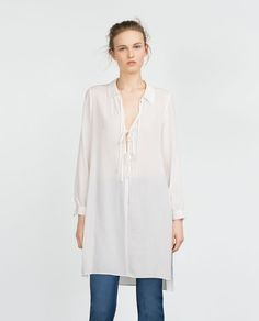 ZARA - COLLECTION AW15 - TUNIC WITH SLITS