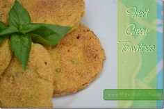 Fried Green Tomatoes...so many variations you can make with the breading...sooo good! @Rene Reyes