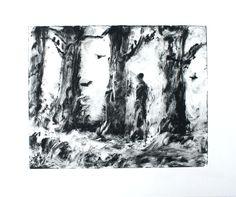 Original art for sale at gallree.com - Affordable Art Under $150.00 - Neil Among the Pines - Leon Kortenkamp - $124.00 | Giclee/Print