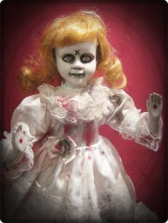 14 Inch Lost Lizzy Blue Haunted Doll Decorations
