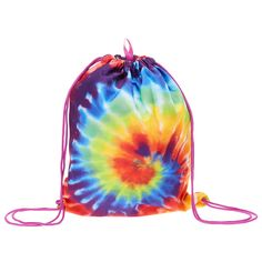 Rainbow Tie Dye Drawstring Backpack | Claire's