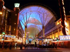 """The famous """"Fremont Street"""" or the Old vegas.."""