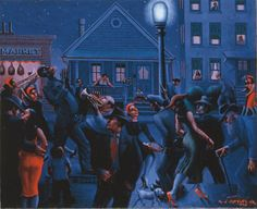 The Whitney Museum of American Art hasannounced the acquisition of Archibald Motley's Gettin' Religion (1948), the first work by the great American modernist to enter the Whitney's collection. Description from artfixdaily.com. I searched for this on bing.com/images