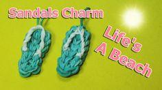 Rainbow Loom Charms: SANDALS / FLIP FLOPS: How to Tutorial (DIY Mommy)