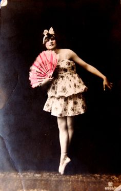 Ballerina with hand-colored fan